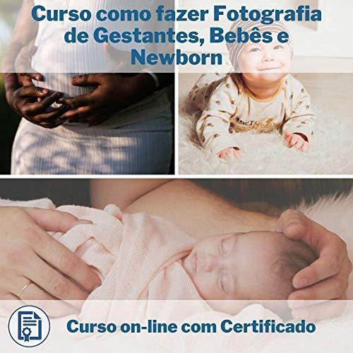 Curso Online em videoaula de como fazer Fotografia de Gestantes, Bebês e Newborn com Certificado + 2 brindes