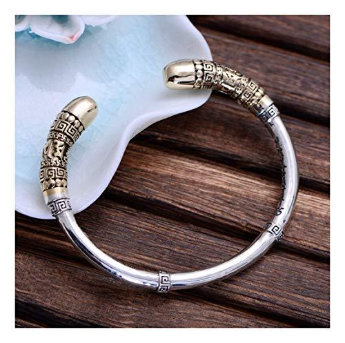 MTWTM Sterling Silber Armband Männer Armband Einfachheit Mode Trends Persönlichkeit Retro Gold Hoop Bar
