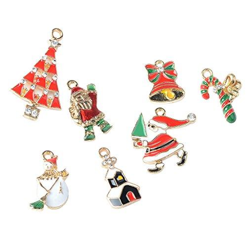 D DOLITY 7 pcs Kristall Anhänger Charms Weihnachten Schmuck Anhänger Modeschmuck DIY Basteln Handwerk