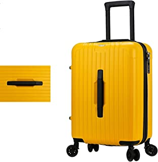 SMLCTY Suitcase Luggage PC+ABS Material with TSA Lock and 4 Spinner Wheels,Trolley Case, Waterproof Adjustable Lever 360° Rotation (Color : Yellow, Size : 26 inch)