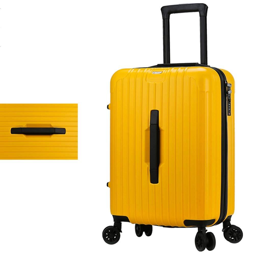 SMLCTY Maleta de Equipaje Material PC + ABS con TSA Lock y 4 Spinner Ruedas, Caja de la Carretilla, a Prueba de Agua Palanca Ajustable 360 ° Rotación (Color : Yellow, Size : 26 Inch): Amazon.es: Hogar