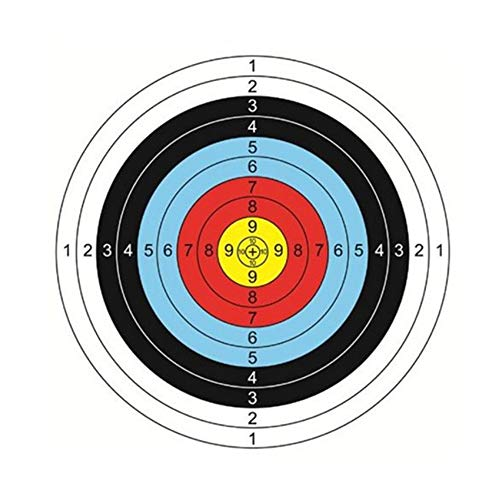 MZY1188 10 Piezas de Cara de Papel de Tiro con Arco, Objetivos de Entrenamiento de Tiro de Airsoft, Objetivos de Tiro con Arco de Papel Cara Flecha Arco Papel de Tiro para la práctica de Caza