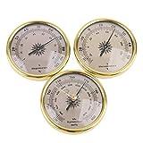 Termómetro, higrómetro, barómetro, previsión meteorológica 3 en 1, 72 mm