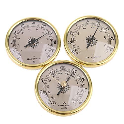MSEKKO 3 en 1 medidor de presión de Aire termómetro higrómetro barómetro pronóstico del Tiempo 72 mm