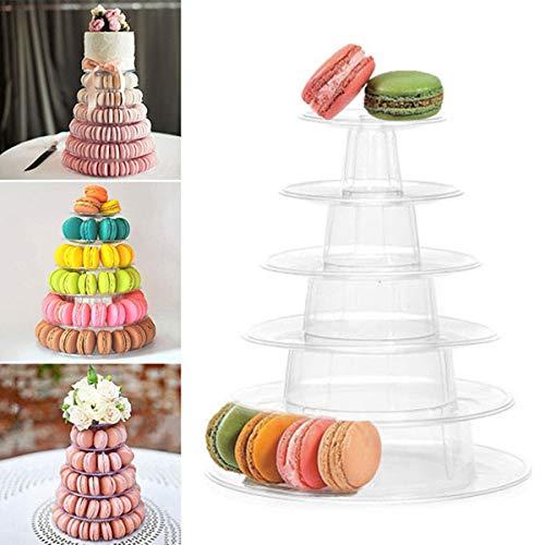 Alzata per torte professionale a 6 ripiani, per dolci a forma di torre con macaron, ideale per matrimoni e compleanni