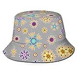 Sombrero de pescador con diseño floral abstracto con flores