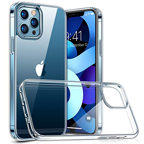 TORRAS Diamond Series Compatible for iPhone 12 Case/Compatible with iPhone 12 Pro Case 6.1 Inch (2020), Slim Shockproof Hard PC Back with Soft Edge Phone Case, Clear