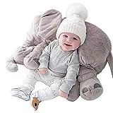ABIA Elefant Kissen Plüsch Baby Schlafkissen Weiche Sofakissen Plüsch Tier Puppen und Spielzeug...