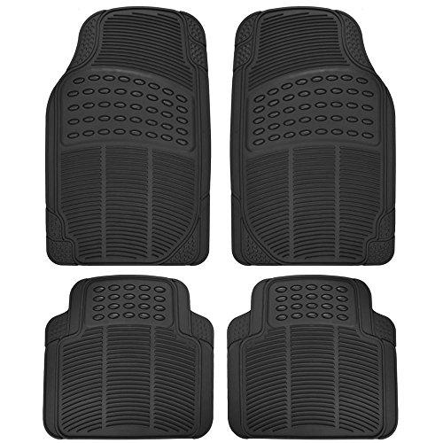 BDK MT654PLUS Black Heavy Duty 4pc Front & Rear Rubber Floor Mats for Car SUV Van & Truck-All...