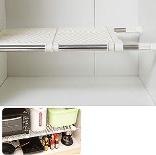 つっぱり棚 伸縮棚 強力 突っ張り棚 幅53~80cm 耐荷重20~60kg 押入れ ラック 脱衣所 洗面所 室 内物干し