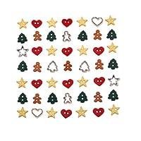 チルドボタン シーズナルコレクション 4851 [Dress It Up 飾りボタン クリスマス 雪 X'mas]
