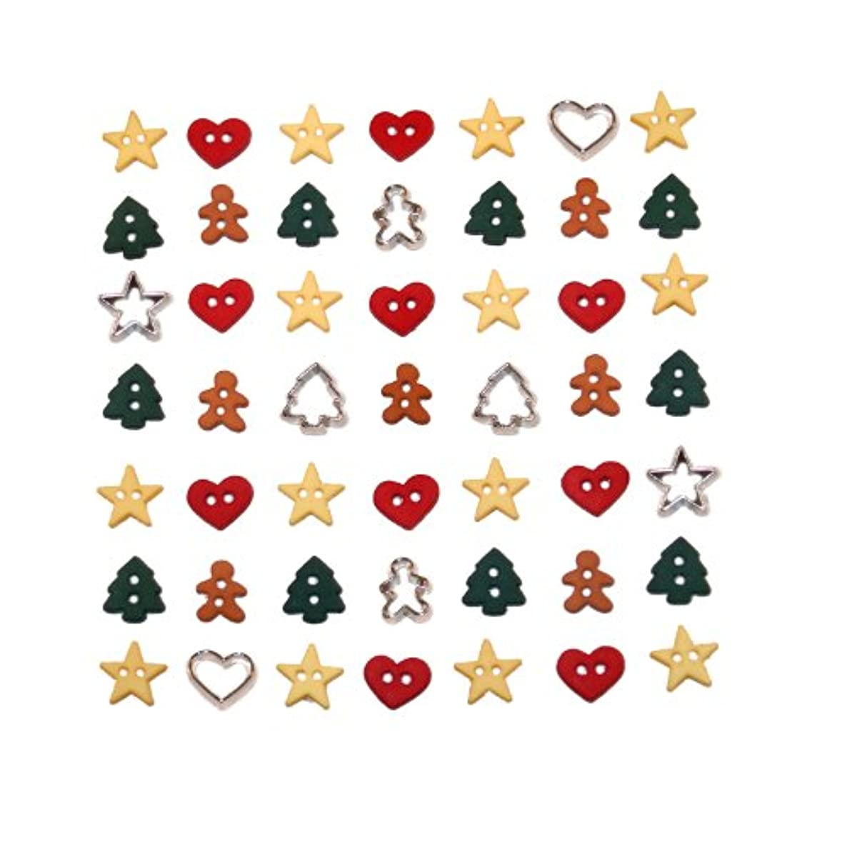 Dress It Up Itty Bitty Cut Out Cookies 40ct Pack Buttons, Multicolor
