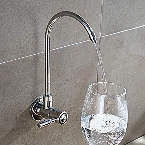Grifo Grifo Fregadero de cocina Grifería Montura de pared de alta calidad Grifo de filtro de agua de latón macizo Placa de cromo Filtros de ósmosis inversa plagados Grifo para beber 1/2 pulgada