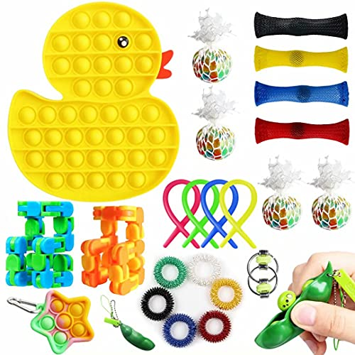 Aribicora 23 Pack Fidget Set Toy for Adults Kids, Cool Things Duck...
