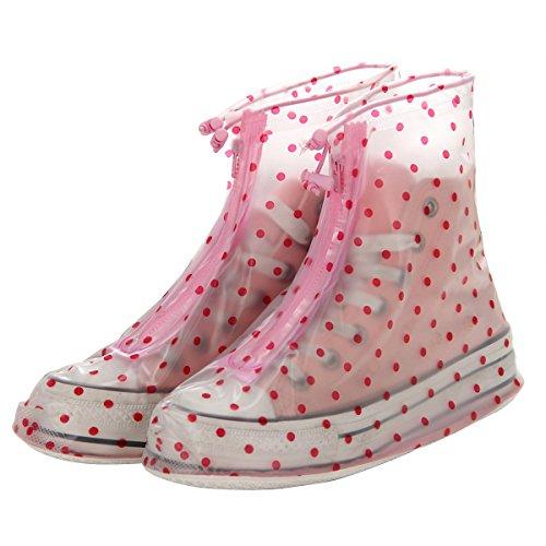 réutilisable étanche protection antidérapante femmes Chaussures pour fille Coque L pois