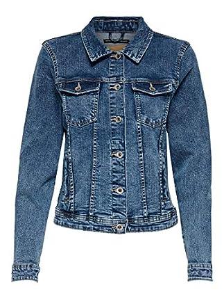 Only Onltia Dnm Jacket BB MB Bex02 Noos Chaqueta vaquera, Azul (Medium Blue Denim Medium Blue Denim), 40 (Talla del fabricante: 38) para Mujer
