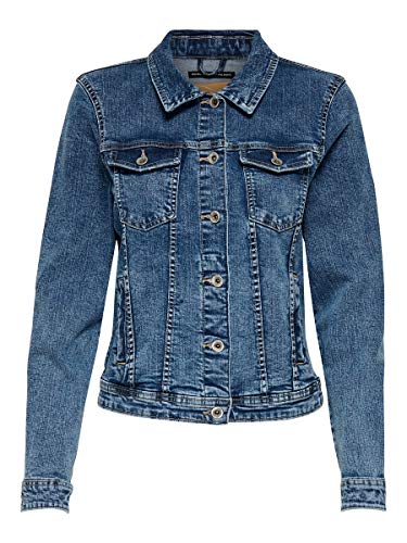 Only Onltia Dnm Jacket BB MB Bex02 Noos Chaqueta vaquera, Azul (Medium Blue Denim Medium Blue Denim), 42 (Talla del fabricante: 40) para Mujer