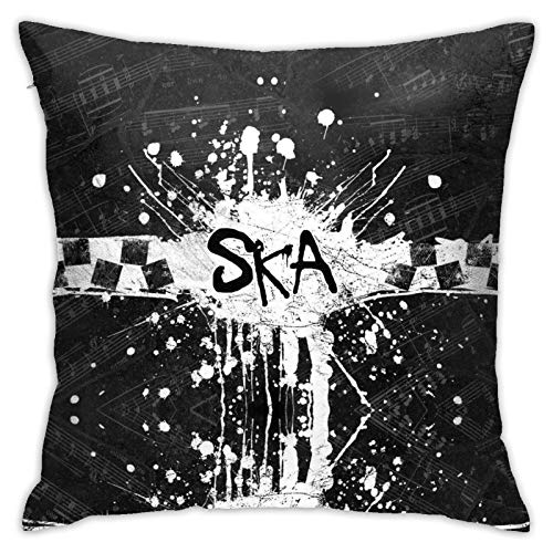 Adornos American Jazz Ska soul eléctrico Classic Rock funda de almohada de dormitorio sofá conjunto de colección con reemplazo de 114,3 x 114,3 cm