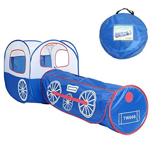 Los niños juegan tienda con túnel de Tren Azul tienda de Juego plegable interior al aire libre deporte juguete padre-niño juego de interacción patio regalo de vacaciones