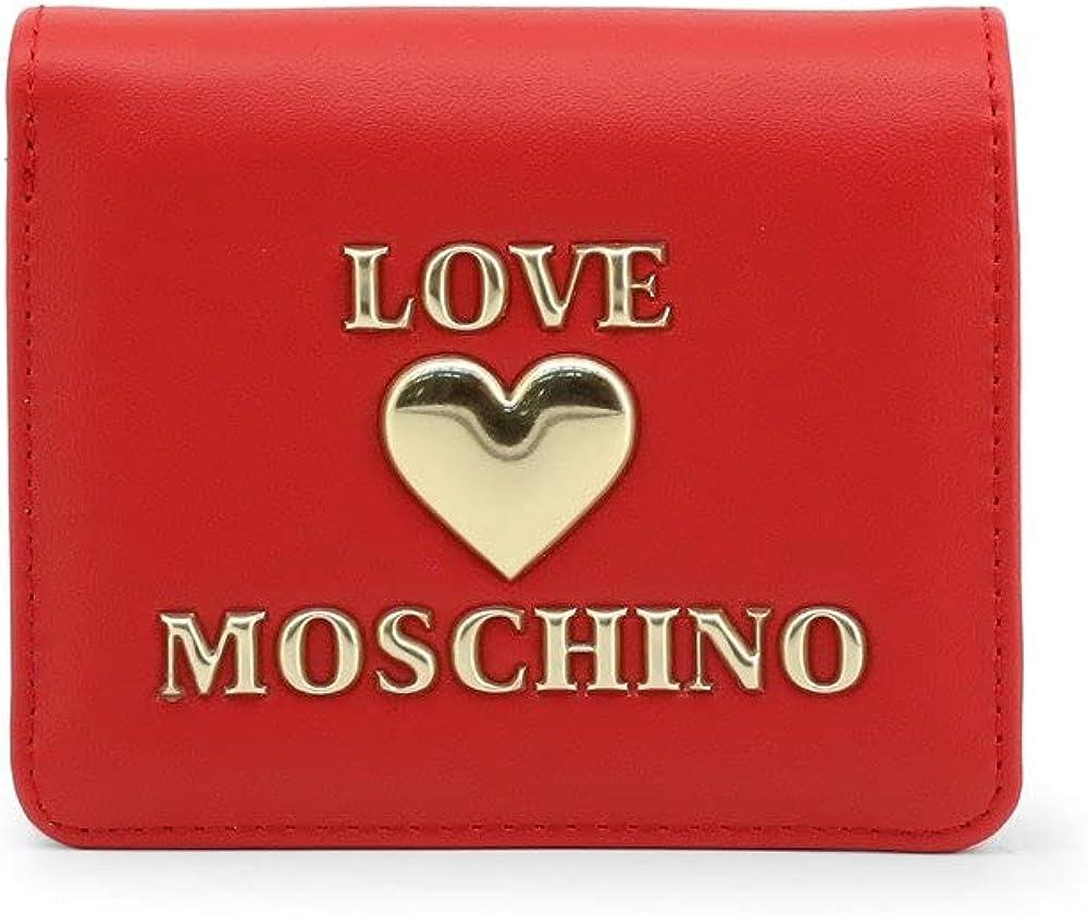 love moschino porta carte di credito portafoglio in pelle sintetica jc5625pp1clf0