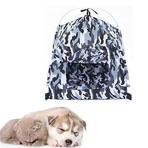 Mascota Tiendas de campaña Casitas para Gatos Interior Casa de Perro Perro Sombra de Sol Perro Sombra al Aire Libre Perro Impermeable Tienda Gray