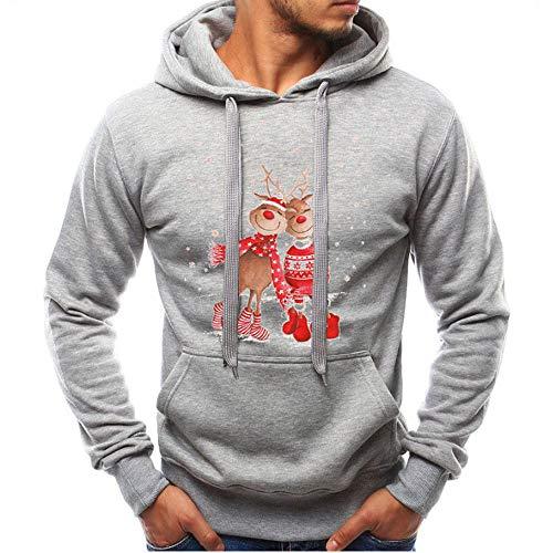 Celucke Herren Damen Kapuzenpullover Lustige Weihnachtspullover Unisex Casual Sweatshirt Langarm Hoodies Winter Pullover