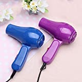 Sebasty Secador de pelo plegable portátil de viento caliente y frío con control de termostato de múltiples rangos de ajuste (color: púrpura)
