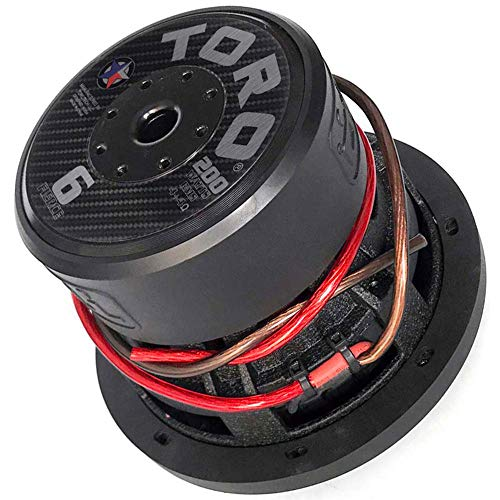 "Toro Tech – Fierce 6, 6.5 Inch 200 Watts RMS – 400 Watts MAX – Dual 4 Ohm 1.5 Inch Voice Coil, 6.5"" Car Audio Subwoofer for Cars, Trucks, Jeeps, Boats, Off Road with Hard Hitting Bass (Sold As Each)…"