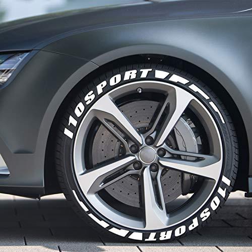 Piaobaige 3D Gummi Rad Aufkleber Auto Reifen Buchstaben Aufkleber Für Hyundai I10 Sport Auto Reifen Beschriftungen...