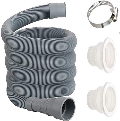 Ablaufschlauch,Verlängerung Ablaufschlauchgeeignetfür Waschmaschine und Geschirrspüler,Inklusive 2 Kanalisation Abdichtung Fugen und 1 Schlauchschellen (5m)