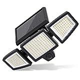Luce Solare LED Esterno, 210LEDs Luce di Sicurezza per Sensore di Movimento Solare con 2 Modalità, Illuminazione Ampia 360 °, IP65 Impermeabile, Lampade da Parete Solare per Cortile Garage
