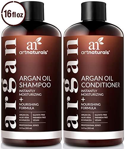 ArtNaturals Organic Moroccan Argan Oil Shampoo and Conditioner Set - (2 x 16 Fl Oz / 473ml) -...