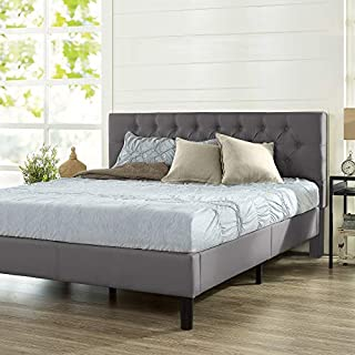 ZINUS Misty Upholstered Platform Bed Frame / Mattress Foundation / Wood Slat Support / No Box Spring Needed / Easy Assembly, Charcoal Grey, King (B07Z7L3VZR) | Amazon price tracker / tracking, Amazon price history charts, Amazon price watches, Amazon price drop alerts