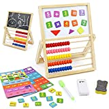 Juguetes de Abaco Madera 3 En 1 Juguetes Montessori Infantil Magnético Tablero de Doble Cara Juegos Educativos para Niños 3 4 5 6 Años