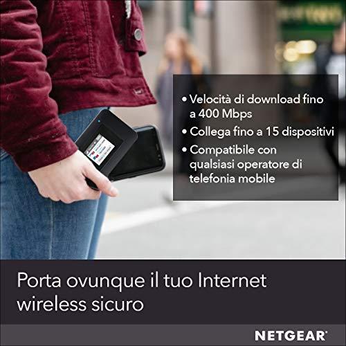 NETGEAR Router 4G con sim AC797, Hotspot con Velocità di Download fino a 400 Mbps, Connetti fino a 15 Dispositivi
