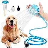 UIQELYS Hundedusche Baden Dusche Haustier Bürste Reinigungs Fellpflege Handschuh Bade Dusche Kamm für Massage Shedding für Hund Katze Haustier