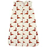Touched by Nature Baby Organic Cotton Sleeveless Wearable Sleeping Bag, Sack, Blanket, Boho Fox, 6-12 Months