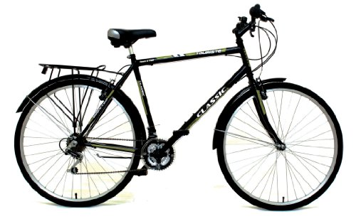 Classic Men's Touriste Commuter Bike - Black (Wheel 700C, Frame 22 Inch)