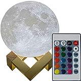 3D Mond Lampe 20cm mit Fernbedienung, Design 3D Mond erhältlich in zwei verschiedenen Durchmesser (15 / 20cm) Mondlampe Mondleuchte, 16 Farben, dimmbar, viele Funktionen, deutsche...