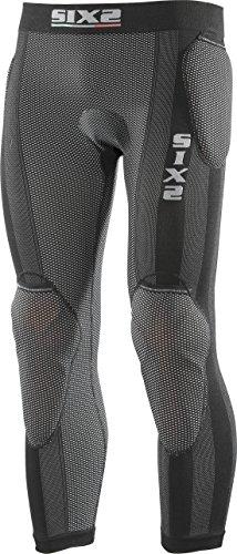 SIX2 Schutzhose mit Sitzpolster schwarz-XXL Unisex Erwachsene schwarz Carbon