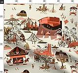 Toile De Jouy, Historisch, Städte, Karussell Stoffe -
