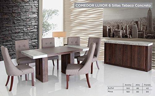 HOME DESIGN Buffet para Comedor Modelo Luxor – Tabaco y Concreto