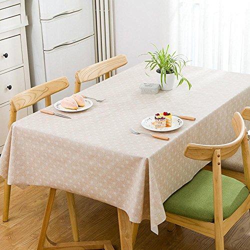 Longless tissu tissu de table d'impression PVC table simple et moderne nappe imperméable PVC 1.37 * 1.85m