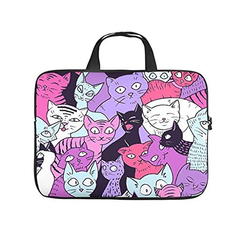 Funda para portátil resistente al agua con diseño de dibujos animados de gatos y animales