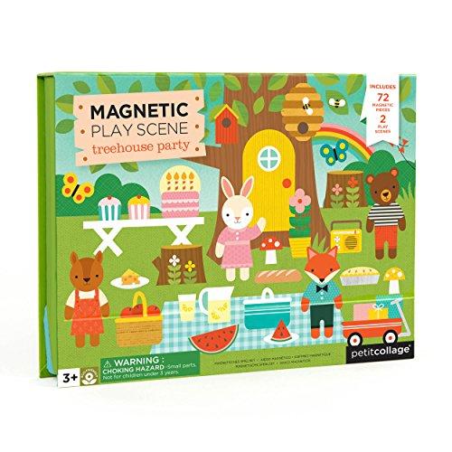 Petit Collage- Gioco Magnetico, Multicolore, MPS-Treehouse
