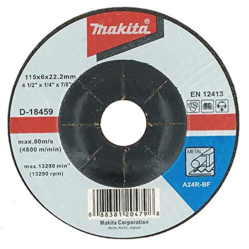 Makita 10 Pack - 4.5' Grinding Wheel For Grinders - Aggressive Grinding For Metal - 4-1/2' x 1/4 x 7/8-Inch