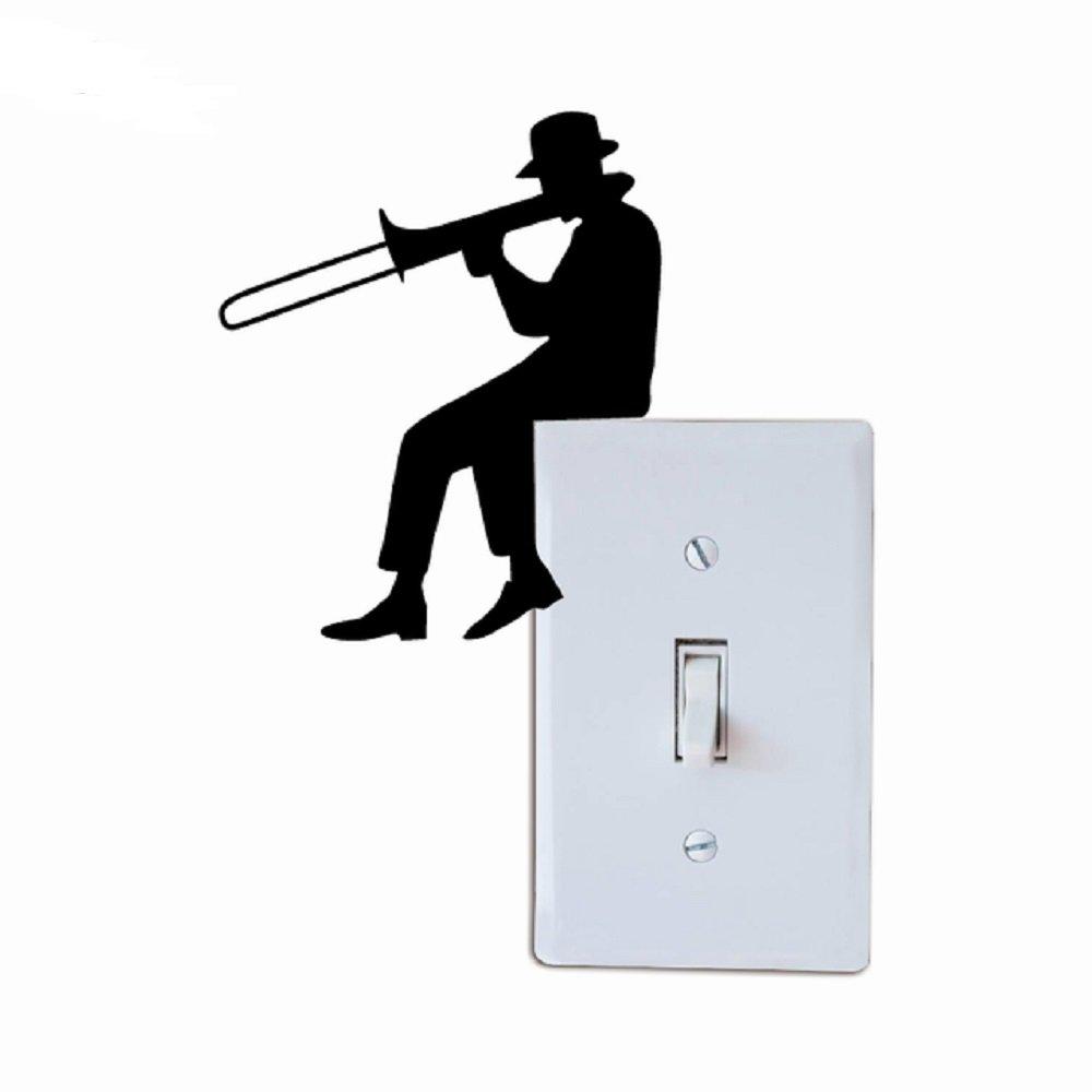 Amazon 男のトロンボーンシルエット ライトスイッチ ステッカー 音楽
