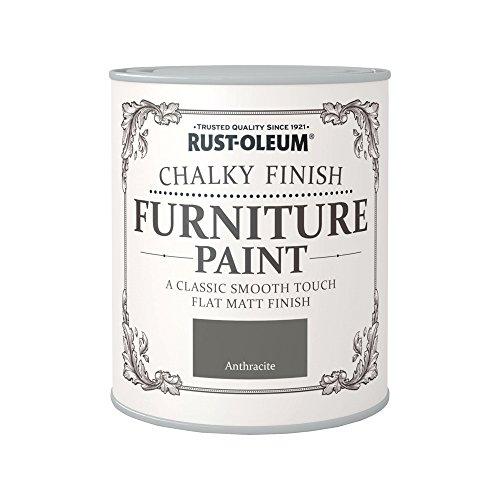 Rust-Oleum RO0070014X1 - Pintura De Chalky Finalizar Muebles - Antracita - 125Ml
