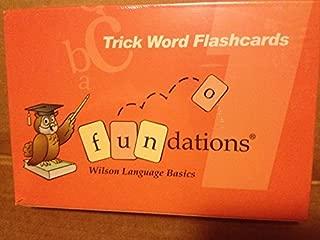 Trick Word Flashcards Fundations Wilson Language Basics 9781567782493
