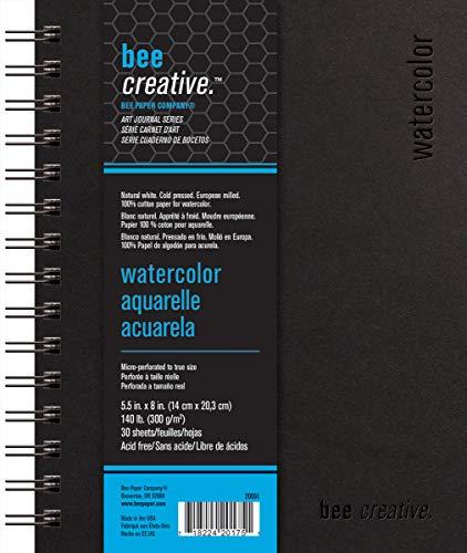 Bee Paper Company BEE-20061 Watercolor Journal, 5-1/2-inch x 8-inch, 30 Sheet Art